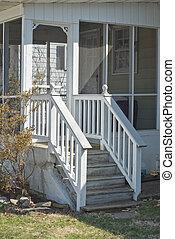 Back Porch - Screen Porch on a Suburban Residence