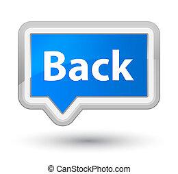 Back prime cyan blue banner button