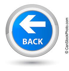 Back prime cyan blue round button