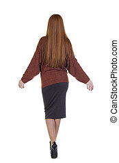 Back red hair woman