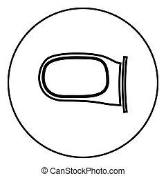 Back side mirror icon black color vector illustration simple image