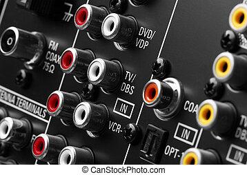 Back side of AV receiver