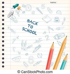back, spandoek, school