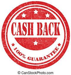 back-stamp, készpénz