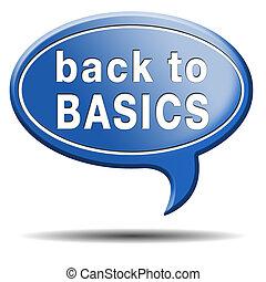 back to basics - Back to basics to the beginning keep it ...