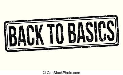 Back to basics grunge rubber stamp
