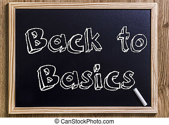 Back to Basics - New chalkboard with 3D outlined text