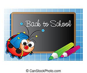 back to la escuela, con, mariquita