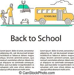 back to la escuela, concepto