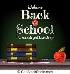 back to la escuela, escuela, books., eps, 10