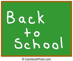 back to la escuela, pizarra