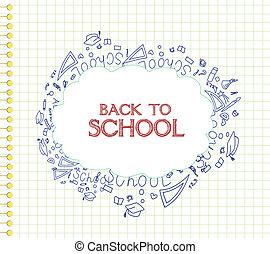 back to la escuela, plano de fondo