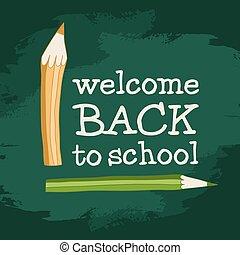back to school 2 pencils