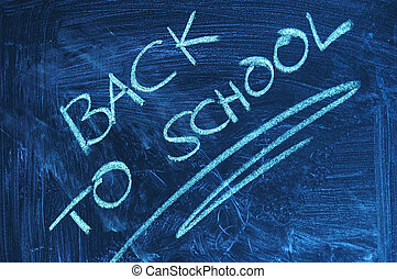 Back to school - A dirty blackboard in the classroom at...
