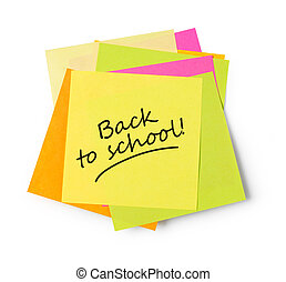 Back to school adhesive note