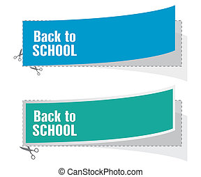 back to school advertising labels