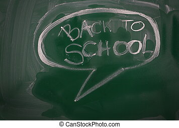 back to school and bubble speech