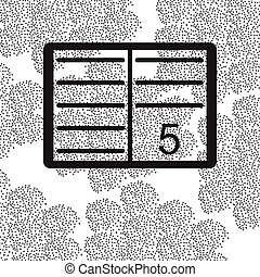 Back to School and Education vector flat icon in black and white style School journal