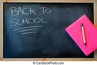 """""""back to school"""" and pink notebook"""