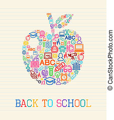 Back to School apple illustration