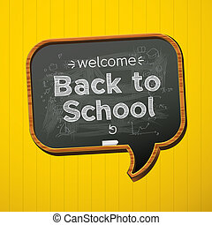 Back to school. - Back to school, vector Eps10 illustration.