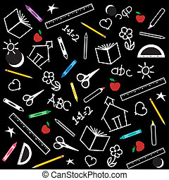 Back to School Background - Blackboard Background for back ...