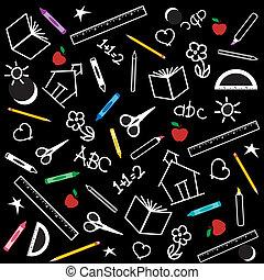Back to School Background - Blackboard Background for back...