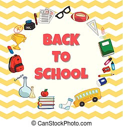 Back to school background, can be use as poster or banner design element