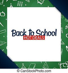 Back to School background. Education banner. Vector illustration.