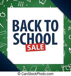 Back to School background. Education banner. Vector illustration.