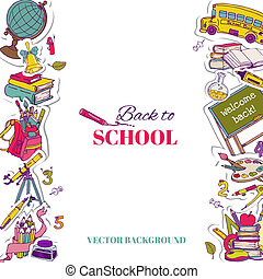 Back to School Background- for design, postcard, texture -  in vector
