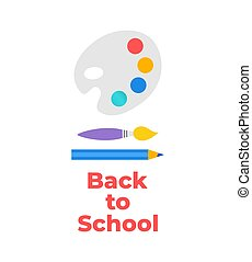 Back to school background . Paper cut cartoon education supplies set in trendy craft style. Modern origami teaching and learning symbol design. Vector illustration