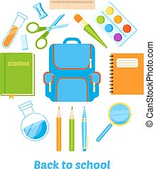 Back to school background vector design