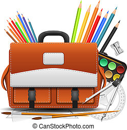 Back to school background. Vector Illustration