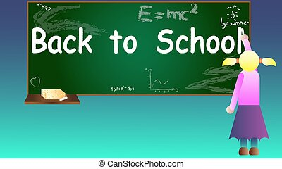 Back to school background vector il