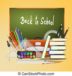 Back to school background. Vector Illustration - EPS 10