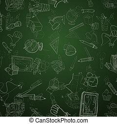 Back To School Background. Vector illustration. Eps 10