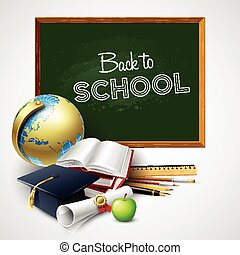 Back to school background. Vector illustration