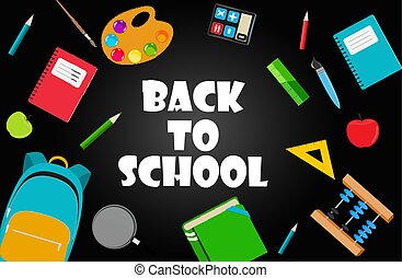 Back to School Background Vector Illustration