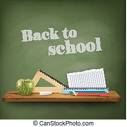 Back to school background. Vector