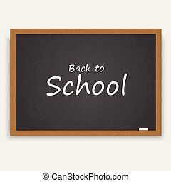 Back to school background with blackboard. Vector,