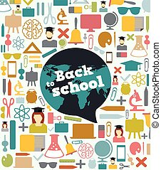 Back to school - background with bu
