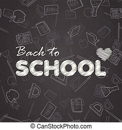 Back to school background with hand written text . Vector