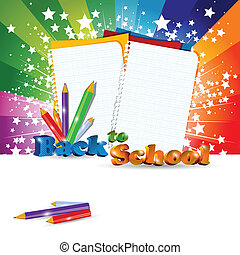 Back to School background with headline, eps10 vector illustration