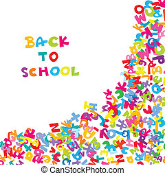 Back to school background with letters