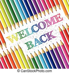 Back to school background with welcome back text