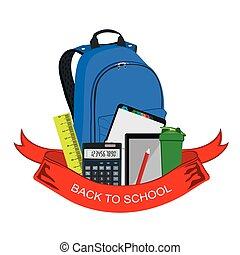back to school badge, backpack