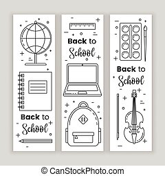 Back to school banner concept