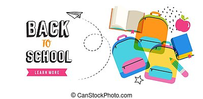 Back to school banner design