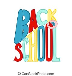 Back to school banner. Flat Vector illustration on white background.